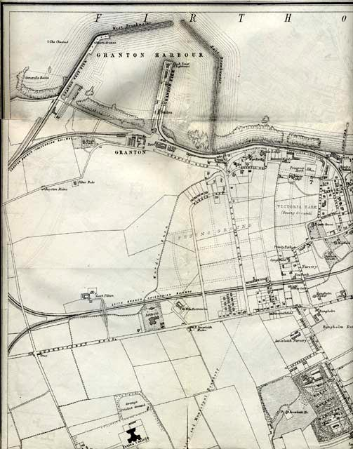 Map of Edinburgh and Leith. 1870  -  North-west Edinburgh Section