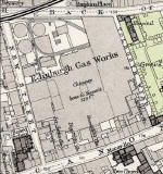 Detail from 1891 Map  -  Edinburgh Gas Works, New Street