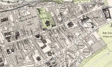 Edinburgh Old Town  -  Extract from a Bartholemew Map, 1891  -  Royal Mile (east)