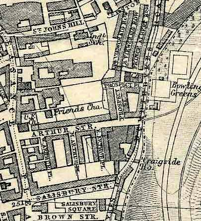 Edinburgh and Leith map, 1925  -  The area around Arthur Street, Dumbiedykes