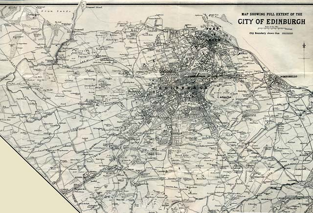 Map by John Bartholomew & Son Ltd.  -  The whole city of Edinburgh, 1925