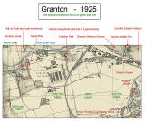 Map of Granton  -  1925  -  with key including Gypasy Brae