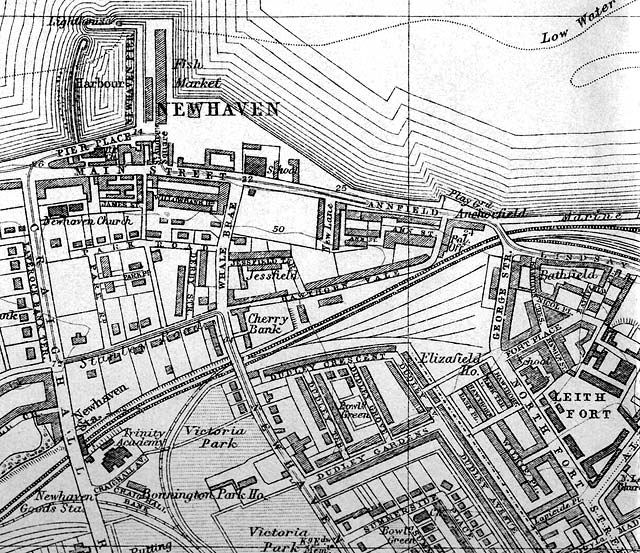 Edinburgh and Leith map, 1925  -  Porobello section