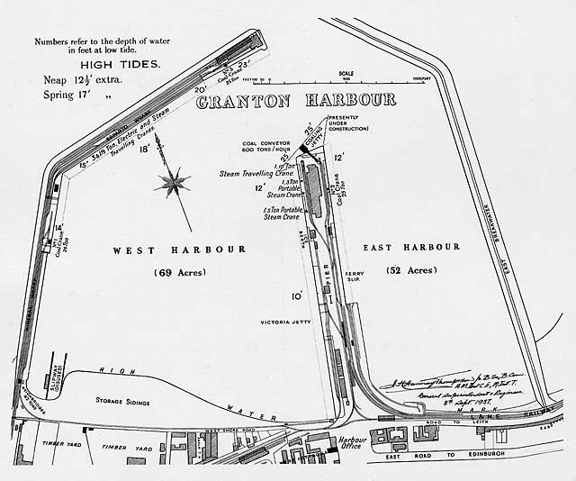 A plan of Granton Harbour, proposed in 1834