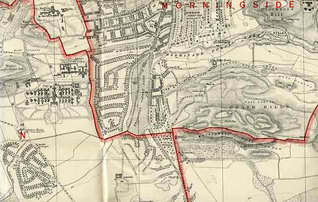 Edinburgh and Leith map, 1940  -  Craiglockhart and Braid Hills section