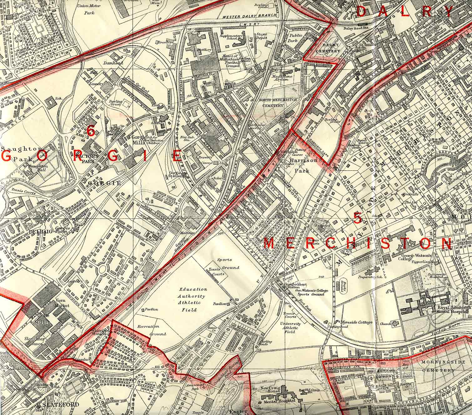 Edinburgh and Leith map, 1940  -  South-west Edinburgh section