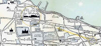 Pictorial Map of Edinburgh showing Bruce Peebles' works,  1866 to 1898  -  Zoom in to North Edinburgh