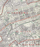 Edinburgh and Leith map, 1955  -  Central Edinburgh (west)