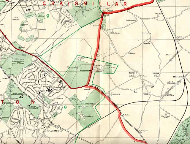 Edinburgh and Leith map, 1955  -  South-east Edinburgh