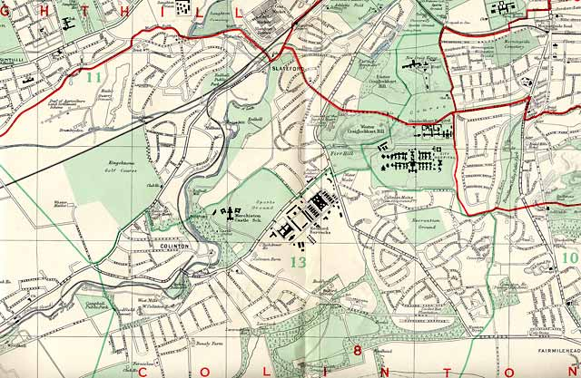 Edinburgh and Leith map, 1955  -  South-west Edinburgh