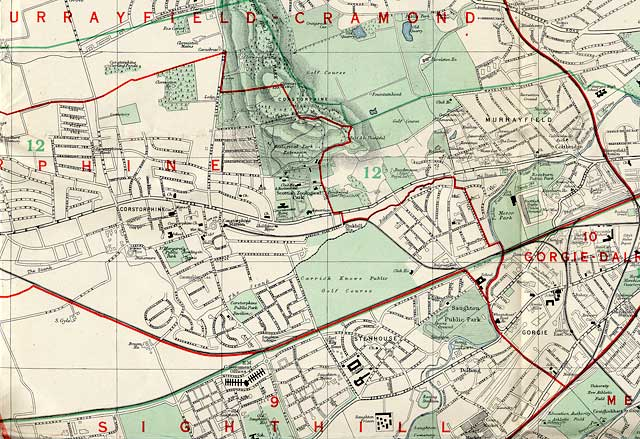 Edinburgh and Leith map, 1955  -  West Edinburgh