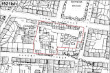 Edinburgh  - Albert Street area   -  Map showing hutments