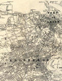 Map of Edinburgh & Leith by John Bartholomew  -  1925