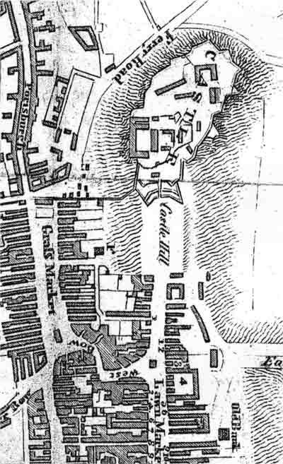 The Royal Mile - with the closes numbered - from a map published in an 1817 guide book.