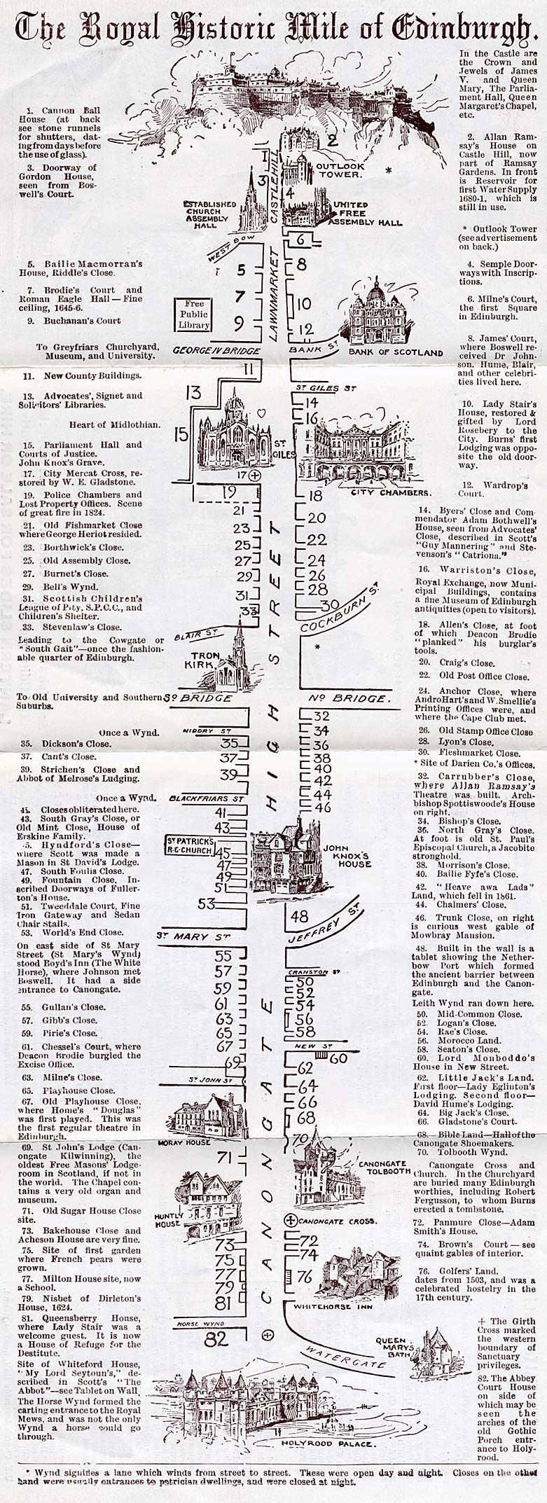 William J Hay  -  Small leaflet  -  Royal Mile Map, large