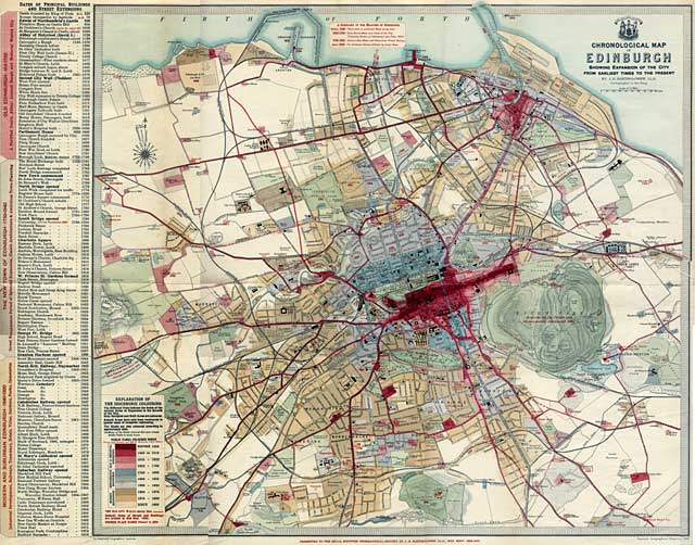 Edinburgh Chronological Map  -  Published 1919