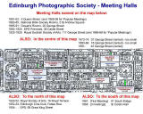 Edinburgh New Town  -  Map showing the Halls in which Edinburgh Photographic Society has held its Meetings