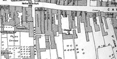 Royal Mile Closes in mid-C18 - Extract from map including Nether Bow Port