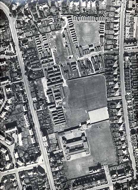 Aerial View of Wardie School Playing Fields, Edinburgh  -  1947