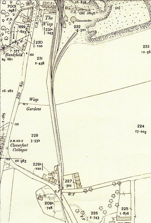 The Wisp  -  25 inch Ordnance Survey Map, 1914