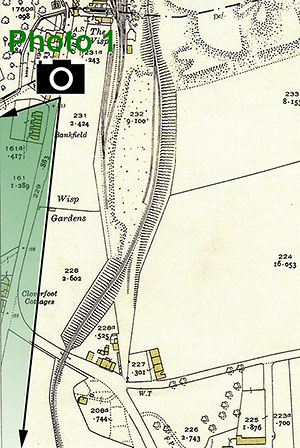 The Wisp  -  25 inch Ordnance Survey Map, 1932 showing the location of The Wisp, Photo 1