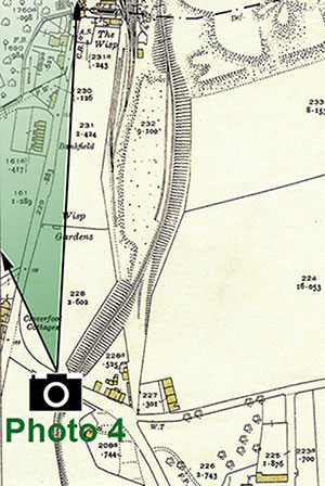 The Wisp  -  25 inch Ordnance Survey Map, 1932 showing the location of The Wisp, Photo 4