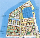 Edinburgh Forthside -  Plan of Granton Western Harbour  -   part of the Forthside Masterplan