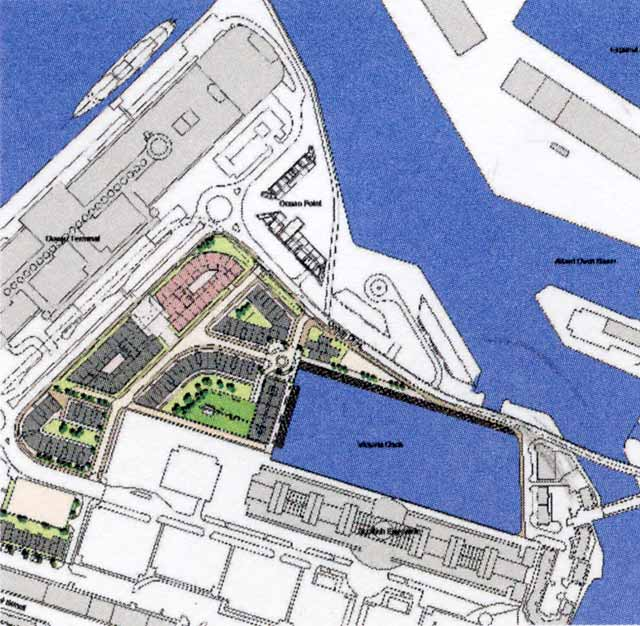 Edinburgh Forthside -  Plan of Port of Leith  -   part of the Forthside Masterplan