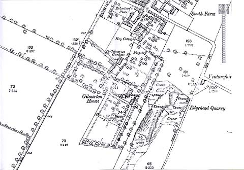 Map of the area around Gilmerton House  -  Ordnance Survey County Series Map, 1843-1893