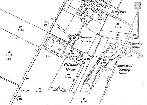 Map of the area around Gilmerton House  -  Ordnance Survey County Series Map, 1891-1912