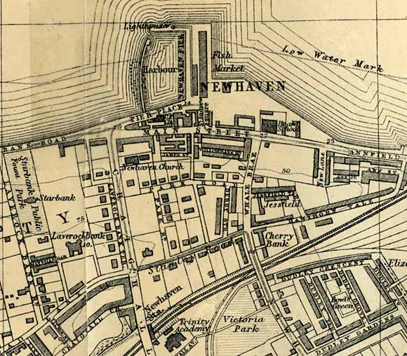 Newhaven Map  -  1917