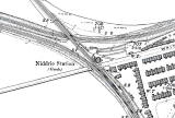 Niddrie Station - 1895 map