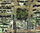 Detail from an aerial photograph of Edinburgh  -  XYZ Digital Map Co, 2001  -  St Andrew Square