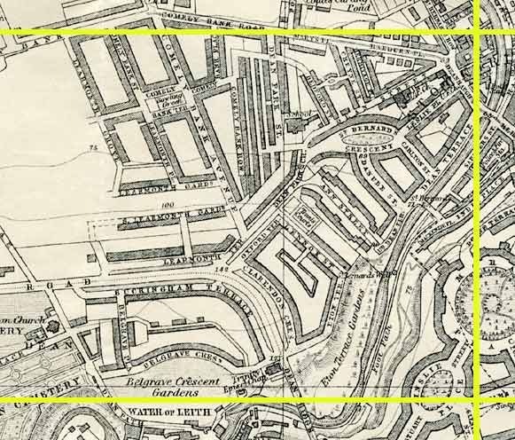 Edinburgh map  -  1925  -  Section E