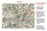 Map of Calton and Broughton - 1925  -  showing the sites of major developments