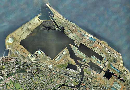 2001 Aerial View of Leith Docks