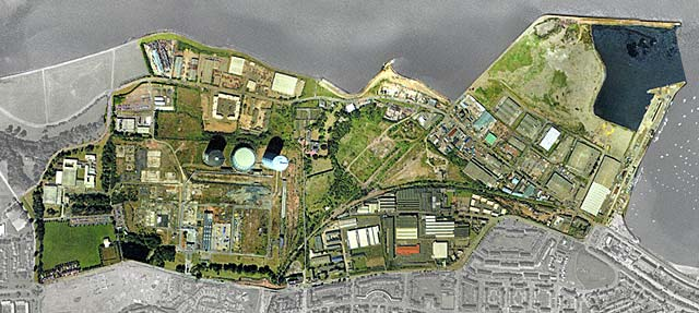 Edinburgh Waterfront  -  Aerial Photograph  -  2001