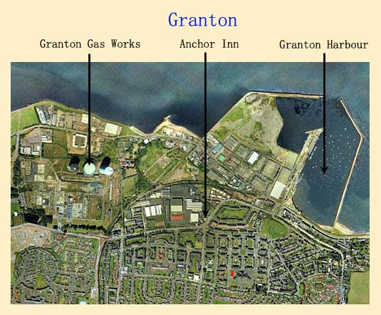 Edinburgh Waterfront and surrounding area  - aeral view of Granton with Anchor Inn in the centre
