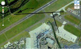 Edinburgh Airport  -  Map showing A9 Road and Old Runway