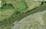 Google Earth Image  -  The Railway Line beside Shotts Golf Course, North Lanarkshire