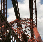 The Forth Rail Bridge  -  a newly painted part of the bridge