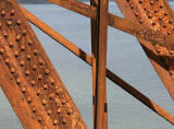 Ironwork on the Forth Rail Bridge, about to be painted