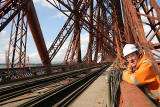Worker on the Forth Rail Bridge