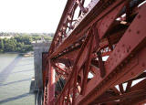 The southern en d of the Forth Rail Bridge  -  newly painted