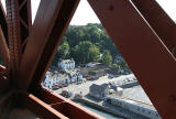 Looking down from the Forth Bridge  -  Hawes Pier, South Queensferry.