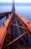 Looking down on the Forth Rail Bridge