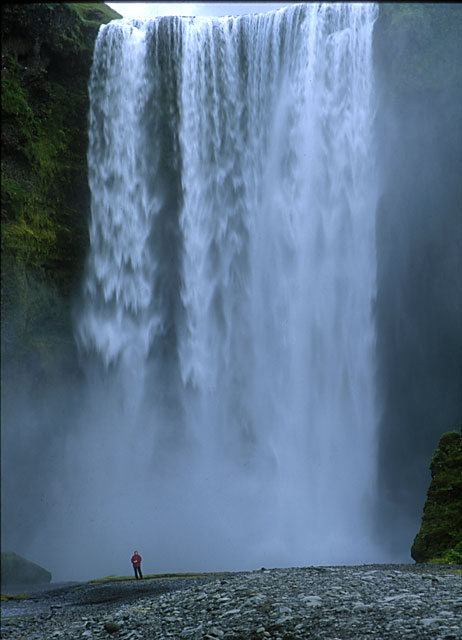 Photograph by Peter Stubbs  -  July 2001  -  Iceland Waterfall