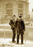 The City of London  -  Two Policemen in Winter