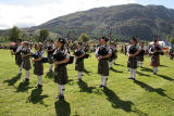 Scottish Highland Games  -  Glenfinnan  -  20 August 2005  -  The Pipe Band