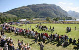 Scottish Highland Games  -  Glenfinnan  -  20 August 2005  -  Tossing the Caber
